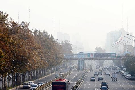 تصاویر| بحران آلودگی هوا در روز نیمه تعطیل تهران
