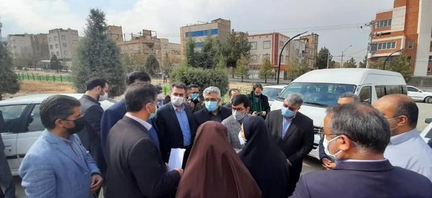 معاونان وزیر راه از طرحهای حاشیه شهر مشهد دیدن کردند