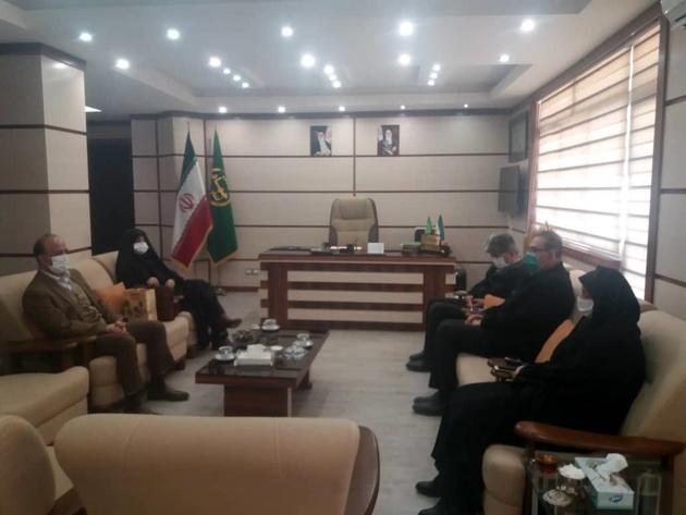 دیدارو گفتگوی رئیس سازمان جهاد کشاورزی استان قزوین با مدیر عامل شرکت مرغک