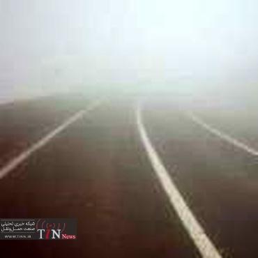 مه غلیظ در محور مشهد - چناران و کاهش دید رانندگان