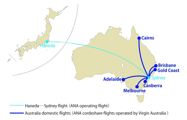 ANA and Virgin Australia sign commercial partnership agreement