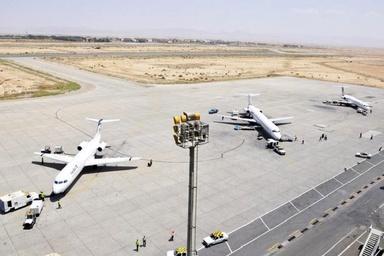 ترک هایی با عمق 4 متر در فرودگاه اصفهان