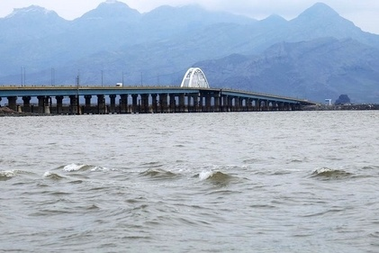 دریاچه ارومیه پس از سالها مواج شد