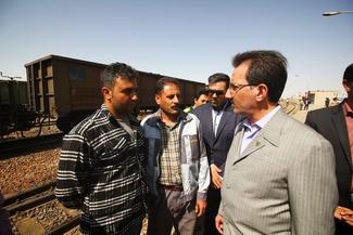 بازدید مدیرعامل راهآهن از ایستگاه سیستان در اداره کل راهآهن اصفهان