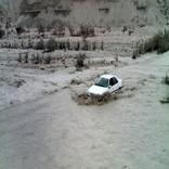 جاده شهرکرد - اندیکا در خوزستان زیر آب رفت