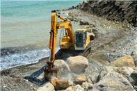 11 کیلومتر از نوار ساحلی چالوس آزادسازی شد