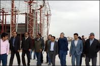 بازدید معاون وزیر راه و شهرسازی از روند ریلگذاری راهآهن همدان - تهران