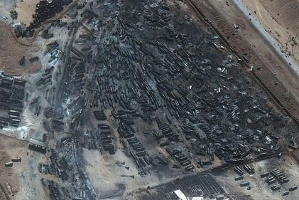 انتقال تانکرهای ایرانی خسارت دیده در آتش سوزی اسلام قلعه به کشور