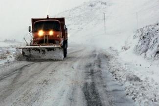 گزارش تصویری / بارش برف و کولاک شدید در محورهای زنجان