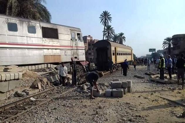 خروج قطار از ریل در مصر 55 زخمی برجا گذاشت
