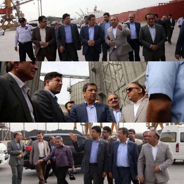 همتی در بندر امام خمینی: ترخیص سریع کالاهای اساسی را پیگیری میکنیم