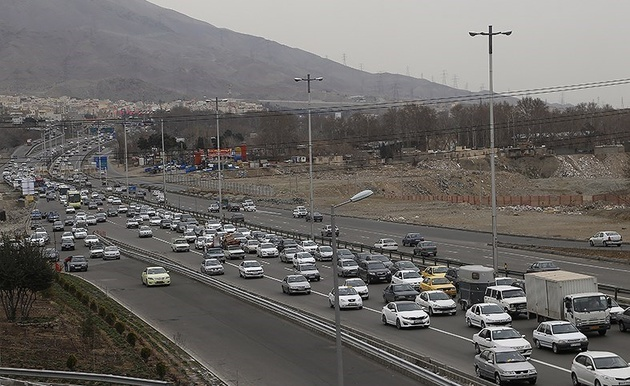 ترافیک در برخی محورهای مواصلاتی استان زنجان