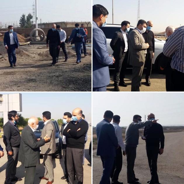 بازدید مدیرکل دفتر توسعه ایمنی راه و حریم سازمان راهداری و حمل و نقل جاده ای از محورهای خوزستان