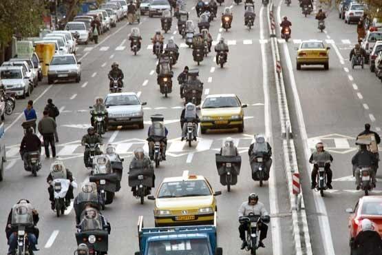 سهم 19 درصدی موتورسیکلتها در آلودگی هوای پایتخت