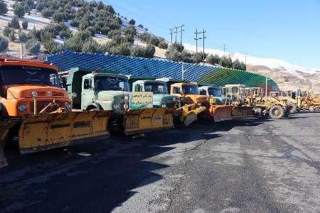 تجهیز 376 دستگاه ماشین آلات برای راهداری زمستانی در آذربایجان شرقی