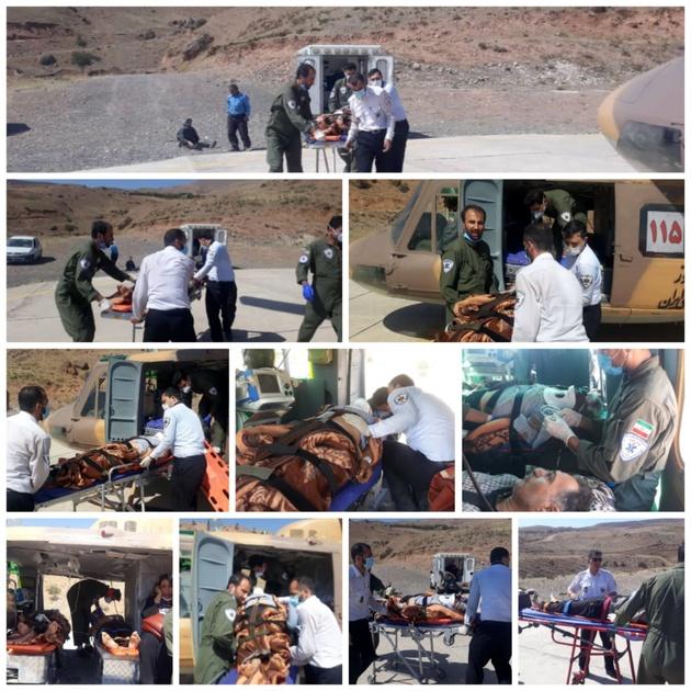 اورژانس هوایی قزوین ناجی دو هموطن