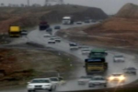 بارش برف و لغزندگی محورهای ارتباطی استان زنجان