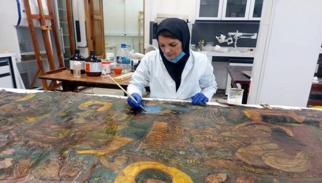 زمان اتمام مرمت تابلو نقاشی قهوهخانهای کاخ گلستان