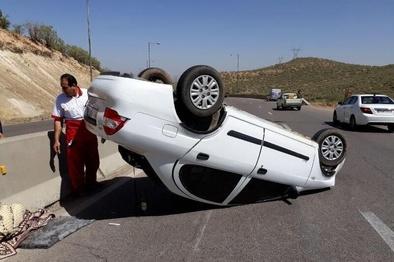واژگونی خودرو در جاده گناوه - دیلم ۲ کشته داشت
