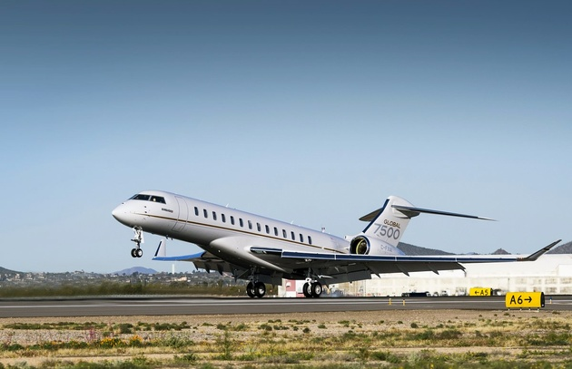Bombardier Global 7500 aircraft completes longest business jet flight in history: Singapore-Tucson