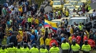 عکس/ رانندگان تاکسی بوگاتا در اعتراض به اوبر خیابانها را بستند