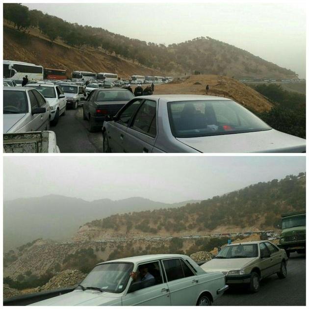 لغزندگی در برخی محورها/ترافیک در محورهای ایلام-مهران