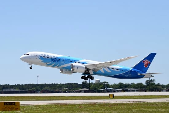 China Southern takes delivery of first 787-9