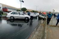 جاده اهواز به غیزانیه به دلیل تصادف زنجیره ای مسدود است