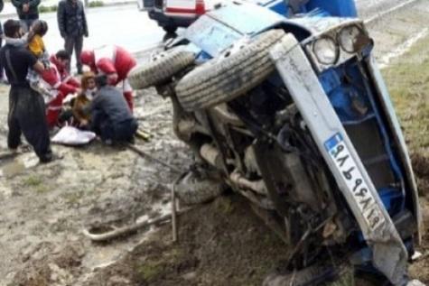 سانحه رانندگی در جاده اشتهارد ۲ کشته برجای گذاشت
