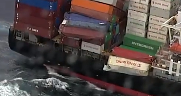 83 containers fall off Yang Ming boxship off Australia