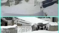 وضعیت عجیب خلخال پس از بارش شدید برف