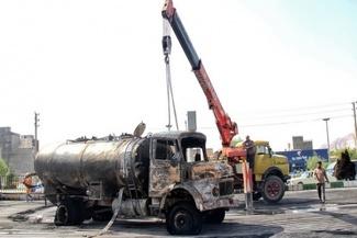 گزارش تصویری / انفجار تانکر حامل سوخت در کرمانشاه