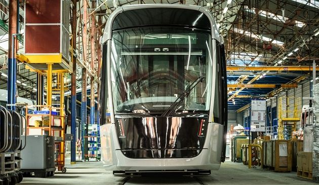 Alstom unveils the first tram for Caen la mer in France