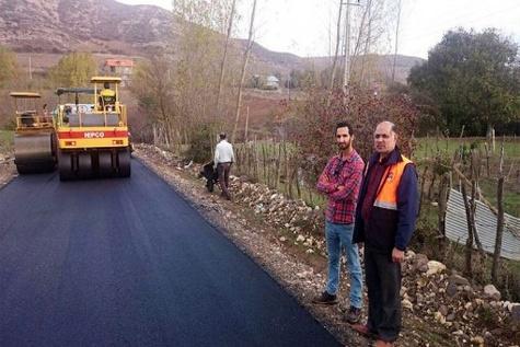 گزارش تصویری عملیات آسفالت راههای روستایی گیلان