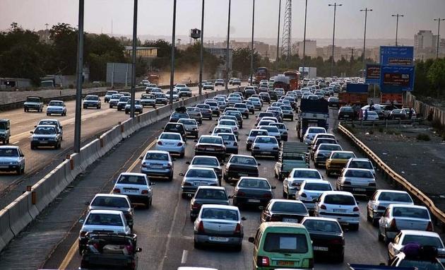 وضعیت ترافیک معابر تهران در صبح چهارشنبه