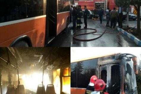 آتشسوزی اتوبوس دانشجویی در آمل چگونه رخ داد؟