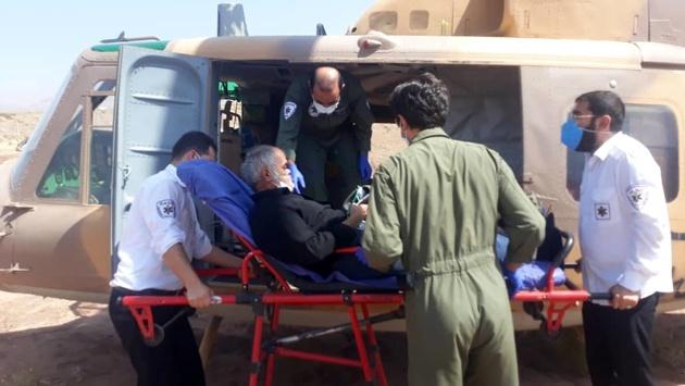 اورژانس هوایی قزوین ناجی جان پیرمرد الموتی