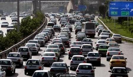ترافیک پرحجم در جادههای منتهی به شمال/ بارش باران در مازندران