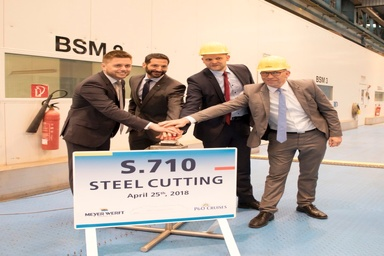 First Steel Cut for P&O Cruises' Newest Ship