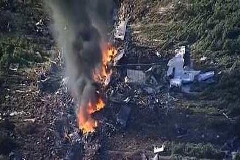16 کشته درسقوط هواپیمای نظامی در آمریکا