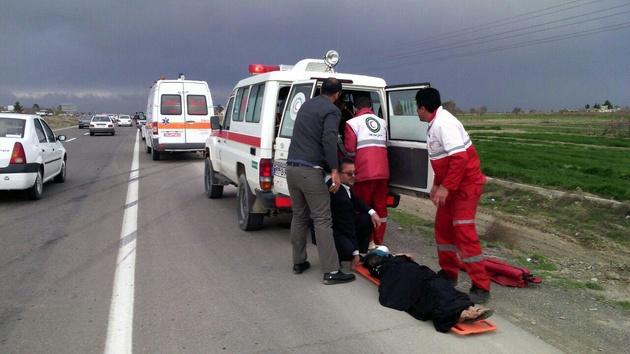 تصادف رخ به رخ در گردنه اسدآباد حادثه آفرید