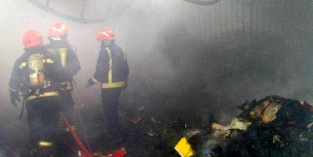 آتشسوزی در انبار کفش بازار تبریز