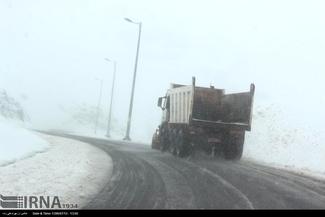 گزارش تصویری/ بارش نخستین برف پاییزی در جاده خلخال - اسالم