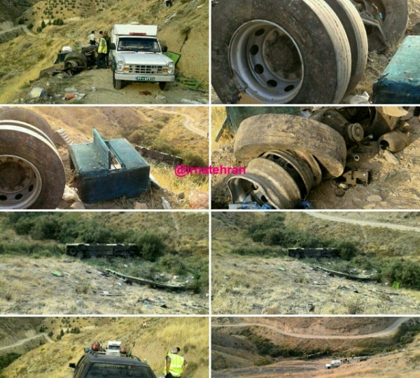 جزییات سقوط اتوبوس به دره جاجرود