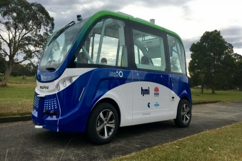 Two-year trial of automated smart shuttle commences in New South Wales