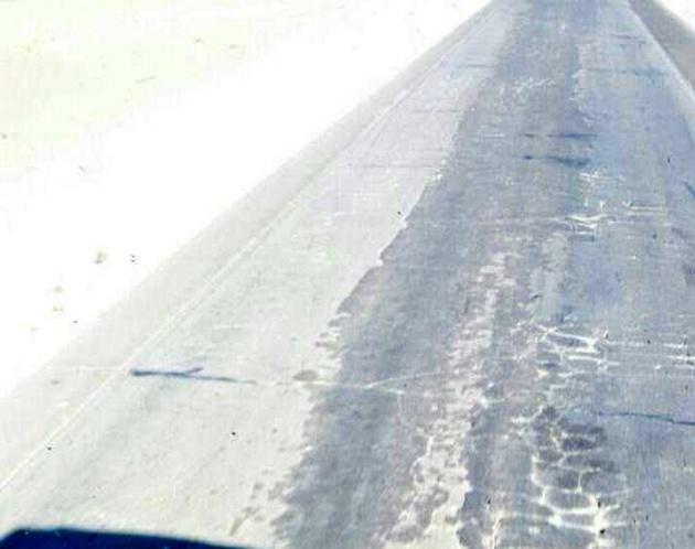وضعیت آسفالت جاده اردستان به نیستانک + تصاویر