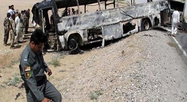 حریق اتوبوس با 45 مسافر در جاده تبریز-صوفیان