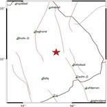 زمین لرزه 4.5 ریشتری بهاباد را در استان یزد لرزاند