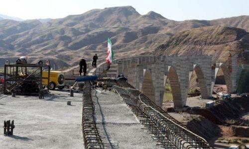 2 ماه زمان برای ساخت یک پل در مسیر راهآهن رشت - قزوین