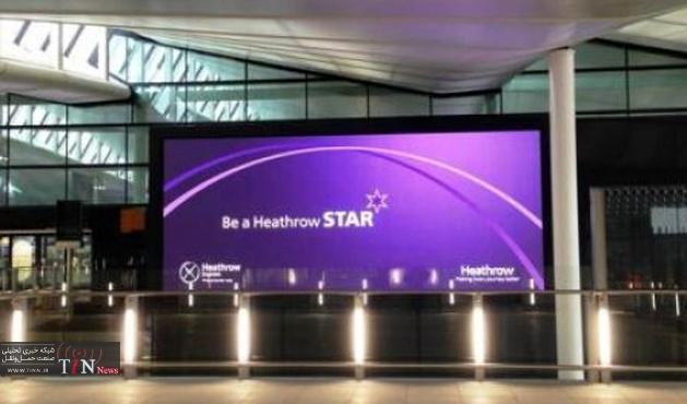 Heathrow Terminal ۲ receives UK's largest outdoor advertising screens